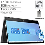 "2020 HP Pavilion x360 2-in-1 14"" HD Touchscreen Laptop Computer, 10th Gen Intel Core i3-1005G1, 8GB RAM, 128GB SSD, B&O Audio, HD Webcam, USB-C, Intel UHD Graphics, Win 10S, Silver, 32GB USB Card"