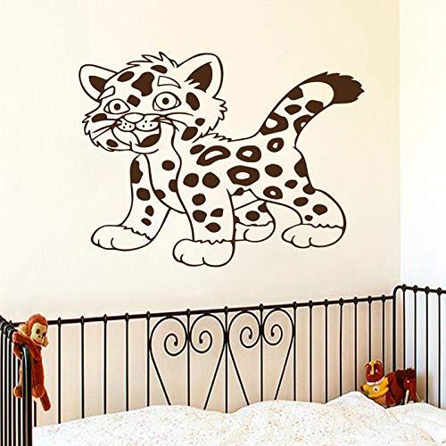 Tianpengyuanshuai schattige kleine tijgerkat muurtattoo dier huisdecoratie kinderkamer design muursticker verwijderbare kunst vinyl