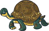 Smiling Happy Slow Tortoise Turtle Cartoon Truck Car Bumper Sticker Vinyl Decal 5'