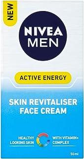 NIVEA MEN Active Energy Skin Revitaliser Face Cream Moisturiser Formulated with Chamomile, Hamamelis & Vitamin + Complex 50ml