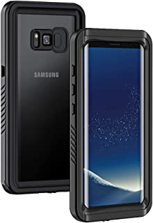 amazon com samsung galaxy s 8 plus cell phone casesgalaxy s8 plus case, lanhiem ip68 waterproof dustproof shockproof full body sealed underwater protective cover