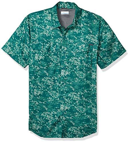 Columbia Silver Ridge Lite Chemise à Manches Courtes pour Homme Motif Camouflage Vert pin