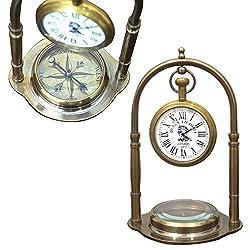 Royal Marine Clocks Nautical Compass Desktop Office Table Ornaments Collectibles Vintage Antique Royal Decor