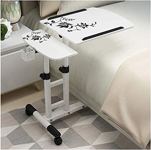 Mesa auxiliar con bandeja, mesa para cama o silla, mesita de noche perezosa con ventilación, soporte vertical para computadora portátil, mesa portátil ajustable multifuncional, bandeja de cama con esc