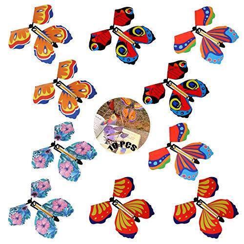 Mariposa Voladora Magica 10 Piezas Mariposa Mágica Plastico Juego De Flying Butterfly Tarjeta Mágica Mariposa Mariposa Mariposa Mágica Volar Para Cumpleaños Aniversario Regalo De Invitación De Boda