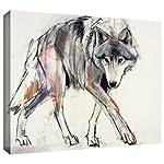 ArtWall Mark Adlington 'Wolf' Gallery Wrapped Canvas Artwork