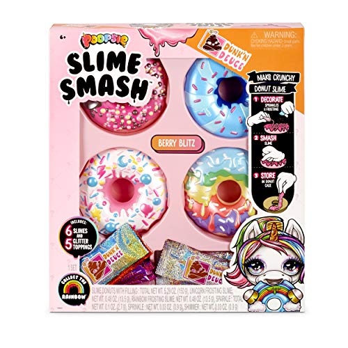 Poopsie Slime Smash Berry Blitz with Crunchy Donut Slime, Multicolor, Model:569268