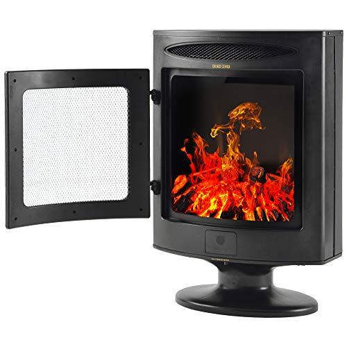 Keebgyy Chimenea electrónica de 1800 W, con efecto de llama, calefacción independiente para interiores, estilo moderno