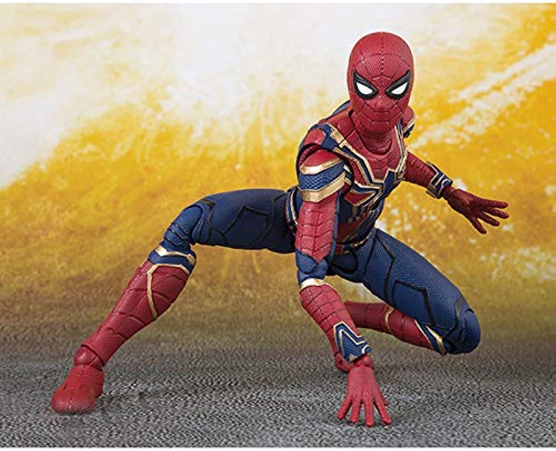 precio razonable Qivor Estatua de Juguete Avengers Avengers Avengers Adornos exquisitos Modelo de Juguete Articulación móvil Hierro Spiderman 14CM  entrega rápida