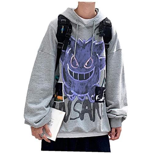 MICHAELA BLAKE Casual Otoño Invierno Nuevo Diablo con Capucha de los Hombres de Moda Sudaderas con Capucha Suelta Feece Hip Hop Streetwear Hombres Sudadera Anime Ropa de Buena Producto