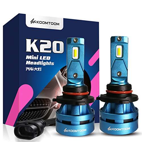 KOOMTOOM 5000K Mini LED 9012 HIR2 Lámparas faros - CREE Chips Ture 360 ° Beam 8000LM Beam (2x4000LM) 55W (2x27.5W) - 1 año de garantía