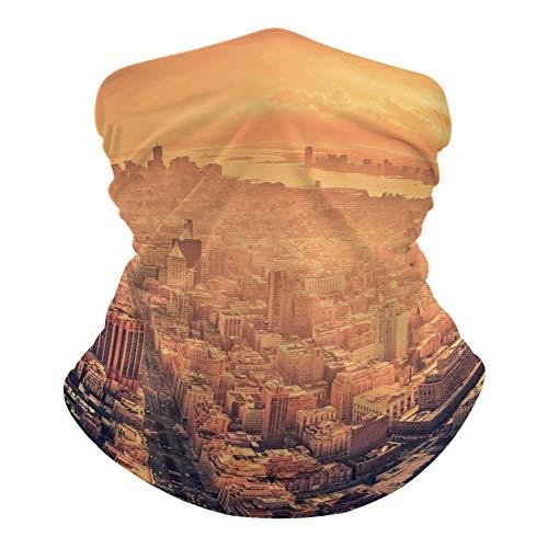 happygoluck1y - Polaina de cuello de Nueva York, transpirable, para el polvo, el viento, el sol, la protección UV, bandana para el aire libre, ciclismo, motocicleta, hombres y mujeres