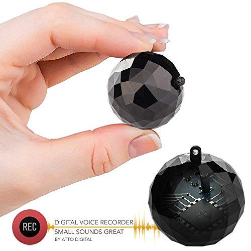 Mini Grabadora de Voz Llavero Ingenioso - 132 Horas de Capacidad - 32 Horas de Duración de la Batería - Sensor de Activación de Voz - ATTo Digital