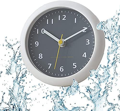 QAZW Reloj De Pared Impermeable para Baño, Reloj De Pared Interior De...