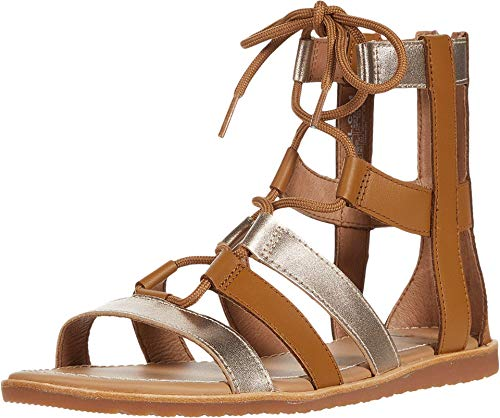 Sorel Bailee Lace-Up Sandal Camel Brown 9