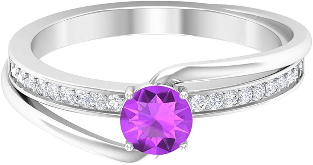 3 4 Our shop most popular CT Lab Created Kunzite Bypass Diamond HI-SI Ring 2021 Gold