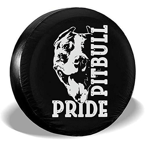 Kncsru Cubiertas de neumáticos para fanáticos Deportivos Pitbull Pride Cubierta de llanta de Rueda de Repuesto Universal