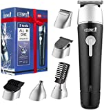 CEENWES Updated Version 5 in 1 Waterproof Man's Grooming Kit Hair Clippers Professional