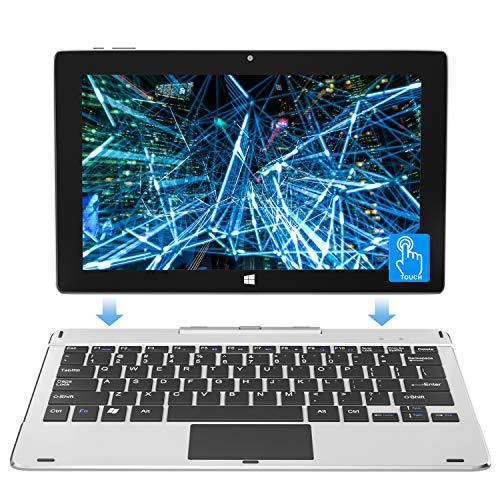 Jumper EZpad 6pro 11,6 Zoll 6GB RAM 64GB eMMC 2 in 1 Laptop Touchscreen Tablet PC Windows 10 FHD Laptop Intel Quad-Core-Prozessor unterstützt 128GB TF-Karte, SSD-Erweiterung, Abnehmbare Tastatur.