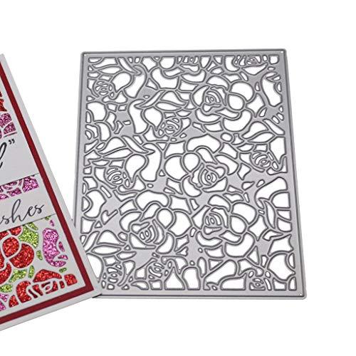 hgfcdd Blume Hintergrund Metall Stanzformen Schablone DIY Scrapbooking Album Stempel Papier Karte Präge Decor Craft