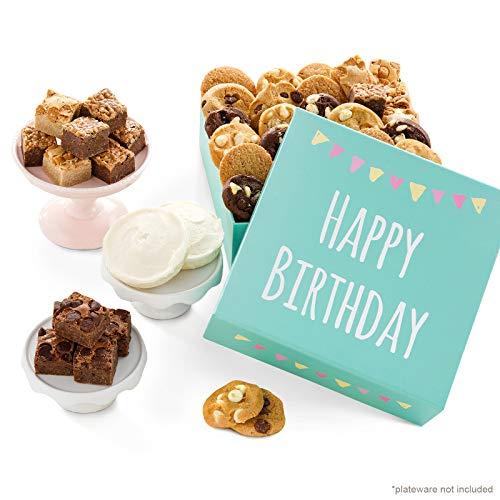 Mrs. Fields Cookies Birthday Nibblers Bite-Sized Cookies & Brownie-Bites Gift Box (44 Count)