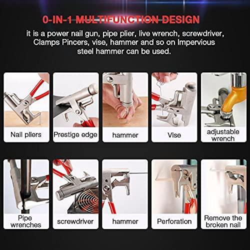 FENGHE 1 llave universal para martillo, martillo multifunción, mango de goma suave, herramienta manual para satisfacer tus diversas necesidades