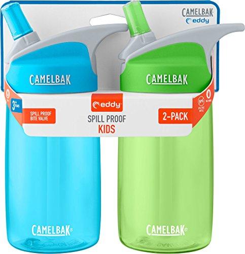 CamelBak eddy Kids 2-Pack Waterbottle, Sky Blue/Grass, 4 L
