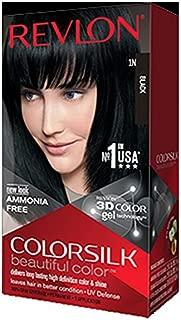 Revlon Colorsilk Hair Color with 3D Color Gel Technology Black 1N