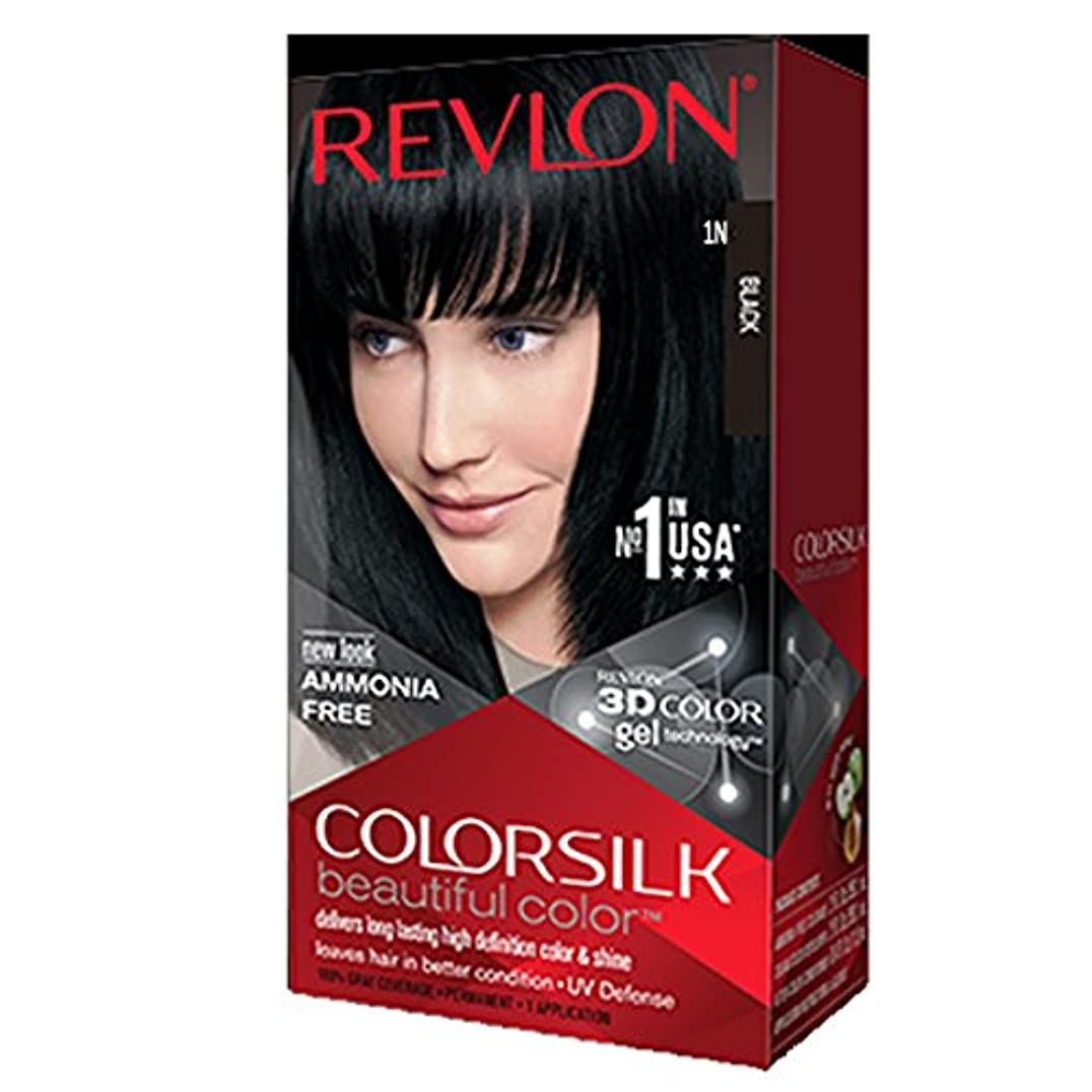 シェトランド諸島正直地質学Revlon Colorsilk Hair Color with 3D Color Gel Technology Black 1N