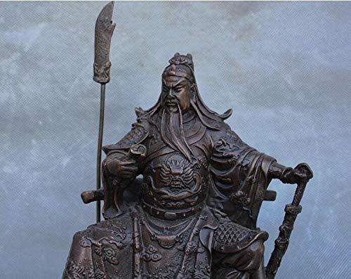 Hong Yi Fei-Shop Guan Yu Estatua Cobre satue China Puro Bronce Cobre guan Gong yu Guerrero Dios Kwan Kung pabelln Ares Estatua Feng Shui Decoracin