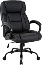 Big and Tall Office Chair 500lbs Cheap Desk Chair Ergonomic Computer Chair High Back PU Executive Chair with Lumbar Support Headrest Swivel Chair for Women Men Adults,Black