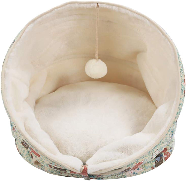 Pet house Cat nest Cat sleeping bag pet bed Pet nest Cat mat Multiple shapes Four seasons available (color   D)