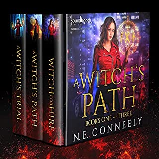 A Witch's Path Box Set     Books 1 - 3: Witch for Hire, A Witch's Path, A Witch's Trial              By:                                                                                                                                 N. E. Conneely                               Narrated by:                                                                                                                                 Soundbooth Theater,                                                                                        Jeff Hays                      Length: 22 hrs and 32 mins     129 ratings     Overall 4.4