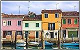 SXXRZA Impresiones de imágenes 60x80cm sin Marco Hermoso Paisaje de Venecia Lienzo Arte de Pared póster e impresión Imagen Decorativa para Dormitorio decoración del hogar