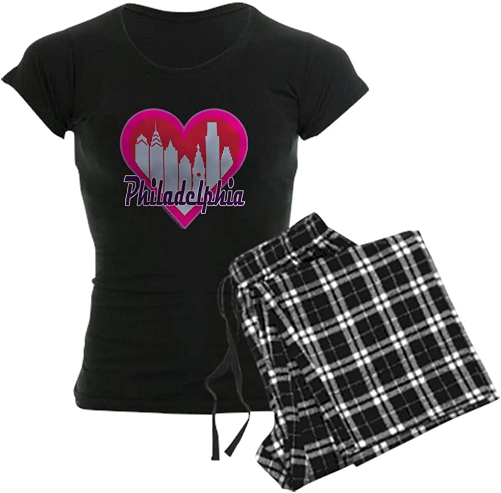 CafePress Philadelphia Skyline Heart Directly managed store PJs Nashville-Davidson Mall Women's Pajamas