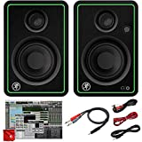 Mackie CR3-X 3-Inch Creative Reference Multimedia Monitors Bundle with Pro Tools First DAW Music Editing Software and Dual 1/4' Stereo to 3.5mm Cable
