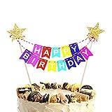 JeoPoom Geburtstag Wimpelkette, Birthday Tortendeko, Happy