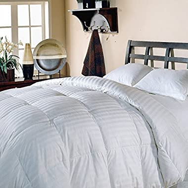 Luxlen Grand King/California King White Goose Down Comforter - 500 Thread Count, 600 Fill Power Luxury Bedding