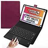 Cooper Touchpad Executive [Tastiera Multi-Touch del Mouse] Custodia per Tablet da 9-10.5 Pollici | Universale | iPadOS, Android, Windows | Bluetooth (Viola)