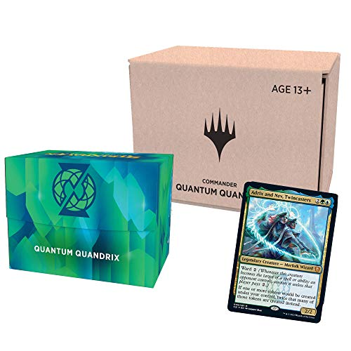 Magic The Gathering Strixhaven Commander Deck - Quantum Quandrix (Blue-Green) | Minimal Packaging Version