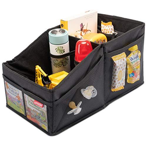 HerzensKind Organizador de asiento trasero para el asiento trasero o el maletero del coche para guardar fácilmente pañales, juguetes, etc.