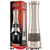 Molinillo eléctrico de sal o pimienta o chile, molinillo electrónicos de acero inoxidable para condimentos gruesos, funciona