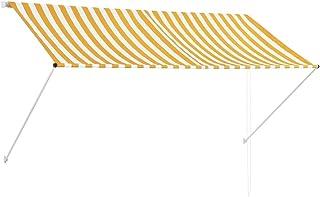 vidaXL Toldo Retráctil 250x150cm Amarillo/Blanco Parasol Ventana Terraza Hogar