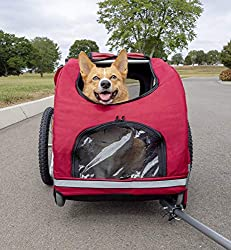 The Solvit Houndabout dog trailer comes in a range of sizes to suit your dog