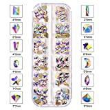 120 unids/caja K9 cristal de cristal no Hot Fix Rhinestones Mix Formas стразы Brillante Non HotFix Rhinestone para Nail Art Salon F0265