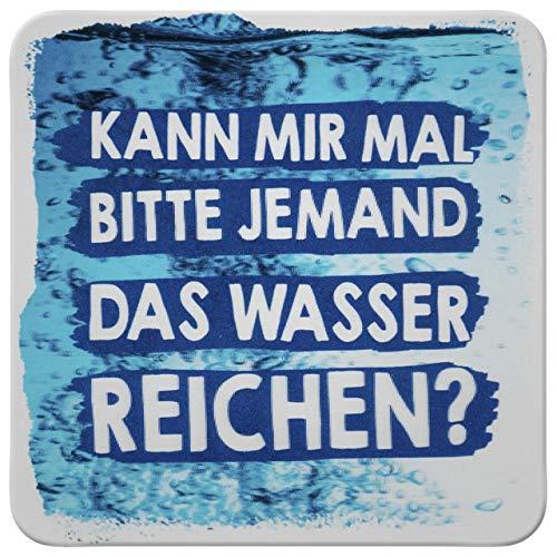 Sheepworld - 45885 - Untersetzer, 3D, Kann Mir mal Bitte jemand das Wasser reichen?, D13, Kork, 9,5cm x 9,5cm