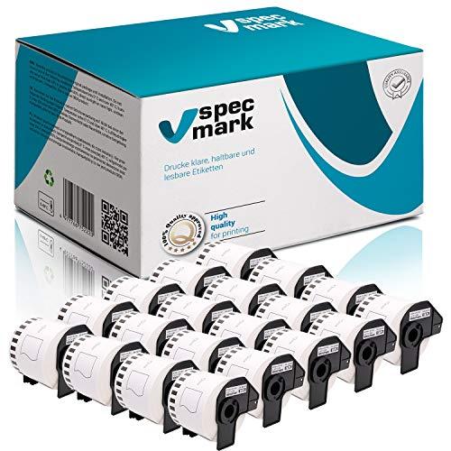 specmark 20 Rollen Endlosetiketten für Brother DK-22205 62mm x 30,48m Etiketten kompatibel zu allen QL-Etikettendruckern QL-570 QL-700 QL-800