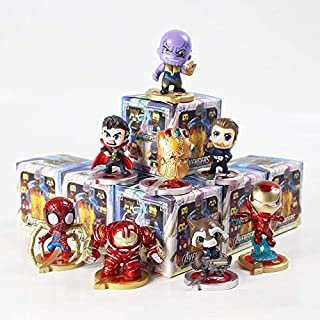 MAI PHUONGass 4-6Cm 8Pcs/Lot Man Man Doctor Strange Cute Figure Model Toy with Base Figure Collection Gifts -Multicolor Complete Series Merchandise
