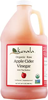 Kevala Organic Raw Apple Cider Vinegar, 64 Fl Oz