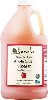 Kevala Organic Raw Apple Cider Vinegar, 64 Fluid Ounce